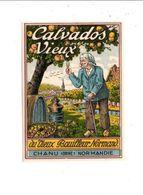 ETIQUETTE CALVADOS DU VIEUX BOUILLEUR NORMAND  - CHANU ORNE NORMANDIE - Other
