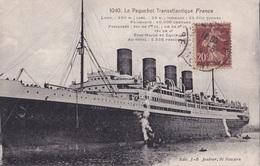 LA PAQUEBOT TRANSATLANTIQUE FRANCE   VG AUTENTICA 100% - Barche