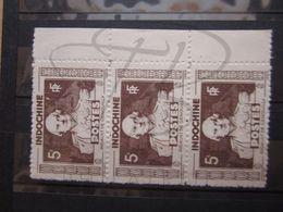 VEND BEAUX TIMBRES D ' INDOCHINE N° 265 EN BANDE DE 3 +BDF , XX !!! - Indochine (1889-1945)