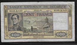 Belgique - 100 Francs  - 9-11-1945 - Pick N°126 - TB - [ 2] 1831-... : Belgian Kingdom