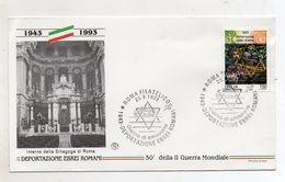 Italia - 1993 - Busta FDC - Deportazione Ebrei Romani - Doppio Annullo Roma - (FDC11102) - 6. 1946-.. Repubblica