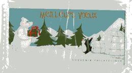 Bloc Souvenir La Poste Meilleurs Voeux Ours Polaire Manchot  Polar Bear Penguin Iglou Igloo Sapin - Souvenir Blocks