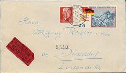 DDR 1965 Michel Nr. 848, 1108, Eilsendung / Exprès Von Magdeburg Nach Düsseldorf, 2 Scans - Covers & Documents