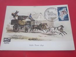 25 Oct 1964 MALLE POSTE 1846 Carte Edité Par Les Amis Du Musée Postal-Cachet Commémoratif CAR-EXPOSITION DES ARTS- - Marcofilia (sobres)