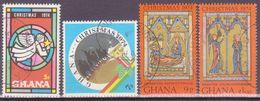 GHANA 1974  CHRISTMAS  MI 589-592  USED - Ghana (1957-...)