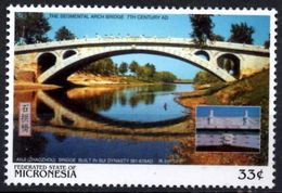 MICRONESIA - Mint - Neuf MNH** - Anji Bridge 581 AD Chinese Architecture Bridges Ponts China Brücken Ponti Puentes - Bridges