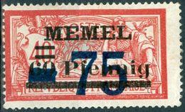 MEMEL, TIPO MERSON, 1922, FRANCOBOLLI NUOVI (MLH*) Michel 49-50   Scott 47-48 - Memel (1920-1924)