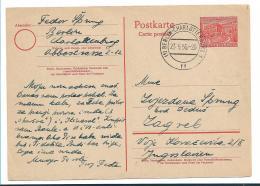 BLN238 / BERLIN -  Mi.Nr. P 6 Nach Kroatien 1956, Ex Berlin-Charlottenburg - Postkarten - Gebraucht
