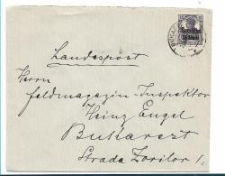 DTBI038 / Rumänien, Mi.Nr. 10 Auf Ortsbrief 1918 - Occupation 1914-18