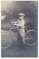 Cpa Carte-photo Enfant , Garçon  & Vélo ( Photo Brouchican , Saint Rémy De Provence ) - Saint-Remy-de-Provence