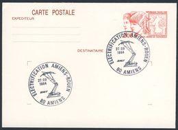 France Rep. Française 1984 Card / Karte / Carte Postale - Electrification Amiens - Rouen / Railway / Eisenbahn - Treinen