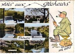 Thouars  Avis Aux Pêcheurs (6 Vues: Rives , Vue Générale , Le Château , Vallée Du Thouet ... - Thouars