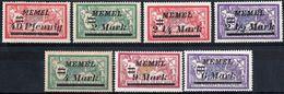 MEMEL, TIPO MERSON, 1922, FRANCOBOLLI NUOVI (MLH*) Scott 69,72,74,75,77,79,81 - Nuevos