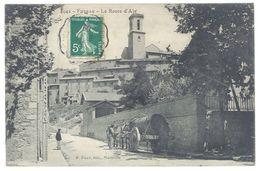 Cpa Fuveau - La Route D'Aix  ( Attelage, Tonneau ) - France