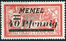 MEMEL, TIPO MERSON, 1922, FRANCOBOLLI NUOVI (MLH*) Michel 60    Scott 67 - Nuevos