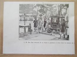 (1933) HUE Indochine - Fête Du NAM GIAO SM Bao Dai L'Empereur D'Annam - Coupure De Presse Originale (Encart Photo) - Documents Historiques
