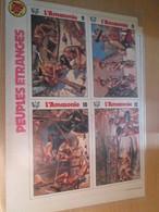 CLI818 Supplément à SPIROU Des 70 / VIGNETTES PEUPLES ETRANGES : L'AMAZONIEG Double Page - Spirou Magazine