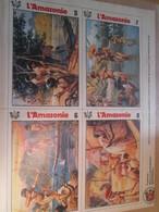 CLI818 Supplément à SPIROU Des 70 / VIGNETTES PEUPLES ETRANGES : L'AMAZONIE Double Page - Spirou Magazine