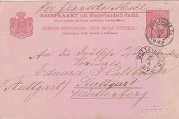 Indes Neerlandaises Entier Postal Pour L'Allemagne 1892 - Niederländisch-Indien