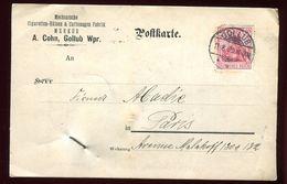 Allemagne - Carte Commerciale De Gollub Pour Paris En 1909 - Deutschland