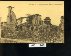 AK240, Syrien, Aintab.,La Rue Principale Après Le Bombardement, (Knitter Rechts Oben) - Syrien
