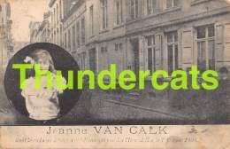 CPA JEANNE VAN CALCK PHOTOHRAPHIE DE LA MALHEUREUSE PETITE VICTIME DE LA RUE DES HIRONDELLES BRUXELLES CRIMINALITE - Bagne & Bagnards