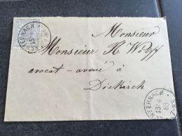 Luxembourg Lettre Echternach Pour Diekirch 1883 - 1859-1880 Armoiries