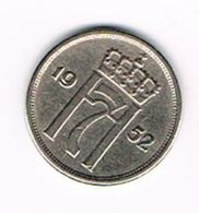 &   NOORWEGEN  10  ORE 1952 - Norvège