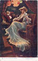 Un Nocturne De Chopin - Femme Et Mandoline    (108225) - Peintures & Tableaux