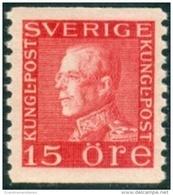 ZWEDEN 1921-26 15öre Guataf V Rood Tweezijdig Type II PF-MNH-NEUF - Neufs