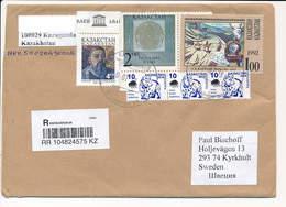 Registered Multiple Stamp Cover - 16 July 2018 Karaganda-29 To Sweden - Kazakhstan
