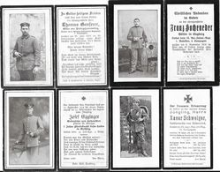 Lot 8 AVIS DE DECES Soldats Allemands - Guerre 14/18 - 1914-18