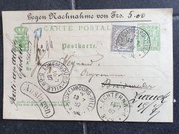 Luxembourg Carte Auslagen - 1859-1880 Armoiries