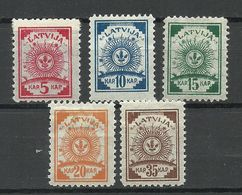LETTLAND Latvia 1919 Michel 7 - 10 A & 12 A * - Lettland