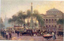 PARIS - Place Du Chatelet - Tramways - Autos - Attelages..;      (108233) - Paintings