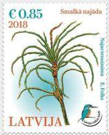 2018 Latvia Lettland Lettonie Aquatic Plant - - Bird - Kingfisher Stamp  MNH - Latvia