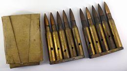 Lot De 2 Lame-chargeurs Springfield De 5 Cartouches .30-06 Avec Boite Carton - Inertes, Neutralisées - 1939-45