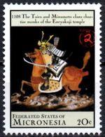 MICRONESIA - Mint - Neuf MNH** - Bouddhism Enryakuji Temple Monks 1108 History Horse Horses Japan - Buddhism