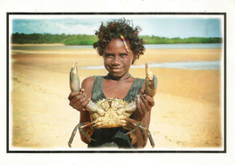 Jeune Fille Aborigène D'Australie, Belle Carte Postale Arnhem Land NT, Timbre à $ 3.00, Adressé Andorra - Océanie