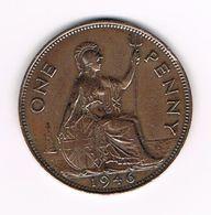 &  GREAT BRITAIN  1 PENNY 1946  GEORGES VI - 1902-1971: Postviktorianische Münzen