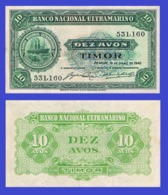 Timor 10  Avos 1948  - REPLICA --  REPRODUCTION - Timor