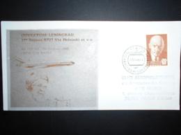 Urss Poste Aerienne , Lettre De Leningrad 1988 Pour Paris , 1ere Liaison B727 - 1923-1991 USSR