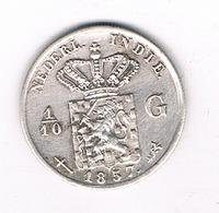 1/10 GULDEN  1857 NEDERLANDS INDIE /4501G/ - [ 4] Kolonies