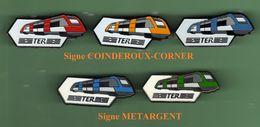 TRAINS - TER *** Lot De 5 Pin's Differents *** TRAINS-01 - TGV