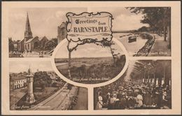 Multiview, Greetings From Barnstaple, Devon, 1930 - Frith's Postcard - England