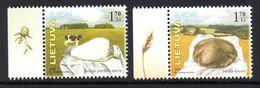 Lituanie Lietuva 0761/62 Europa, Pain, Fromage, Beurre , Vache, Blé - Alimentation