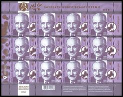 UKRAINE 2018. SELMAN A. WAKSMAN, NOBEL PRIZE LAUREATE IN MEDICINE 1952. Mini-sheet Of 12 X Mi-Nr. 1704 MNH (**) - Ukraine
