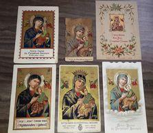 Vend Collection - Image Pieuse - CHROMOLITHOGRAPHIE - Lot De 6 Images - NOTRE DAME DU PERPETUEL SECOURS - A16 - Devotion Images