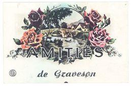 Cpa Fantaisie, Amitiés De Graveson , Fleurs, Pont - France