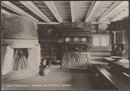 Hovestuen Fra Lilleherred, Telemark, Norsk Folkemuseum, Oslo, Norge, 1933 - Norsk Folkemuseum Foto Postkort - Norway
